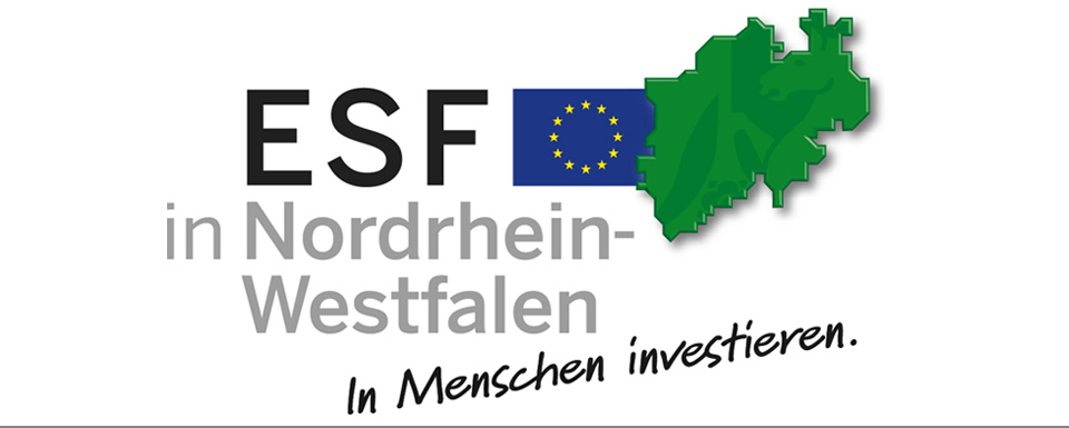 Logo ESF in NRW - in Menschen investieren